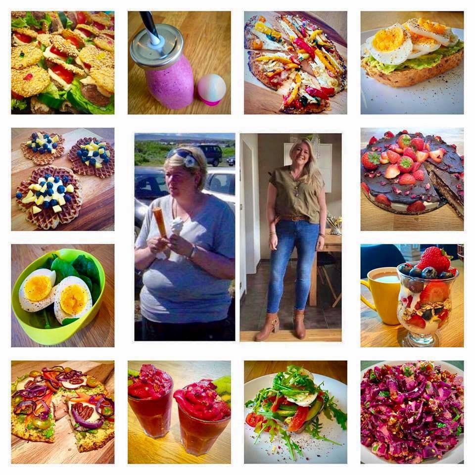 Sólveig Sigurðardóttir - montage of healthy food