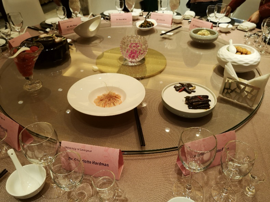 We were treated to a delicious meal hosted by the Jiangsu Academy of Agricultural Sciences (JAAS) in Nanjing