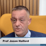 Professor Jason Halford being interviewed by Medscape