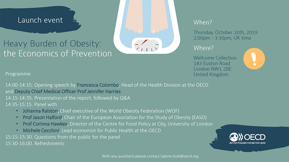Heavy Burden of Obesity - Launch - SAVE THE DATE
