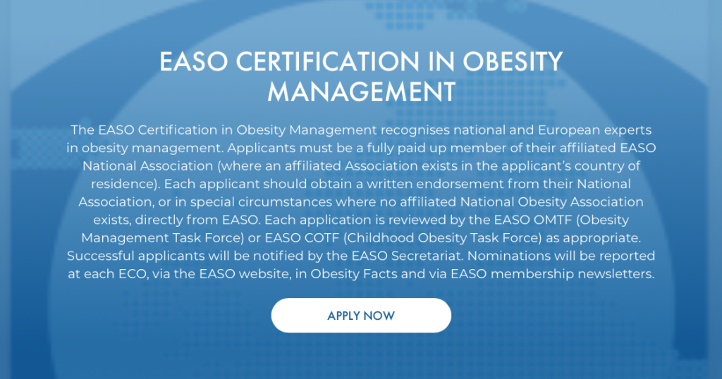 EASO Certification in Obesity Management