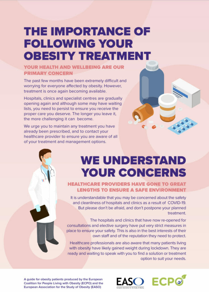the importance of following your obesity treatment Infographic